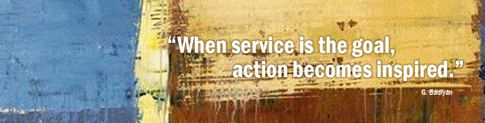 When service is the goal, action becomes inspired.