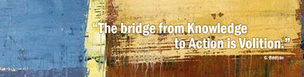 The bridge from Knowledge to Actionis Volition.